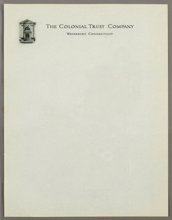 Letterhead, The Colonial Trust Compan, ca. 1940–65