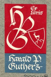 Ex Libris Label, Harold P. Gutherz