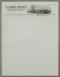 Letterhead, Clarke and Courts Lithogr, ca. 1940–65