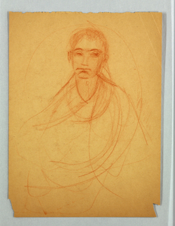 Partial sketch of a female figure.