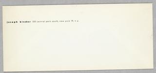 Envelope, Joseph Binder