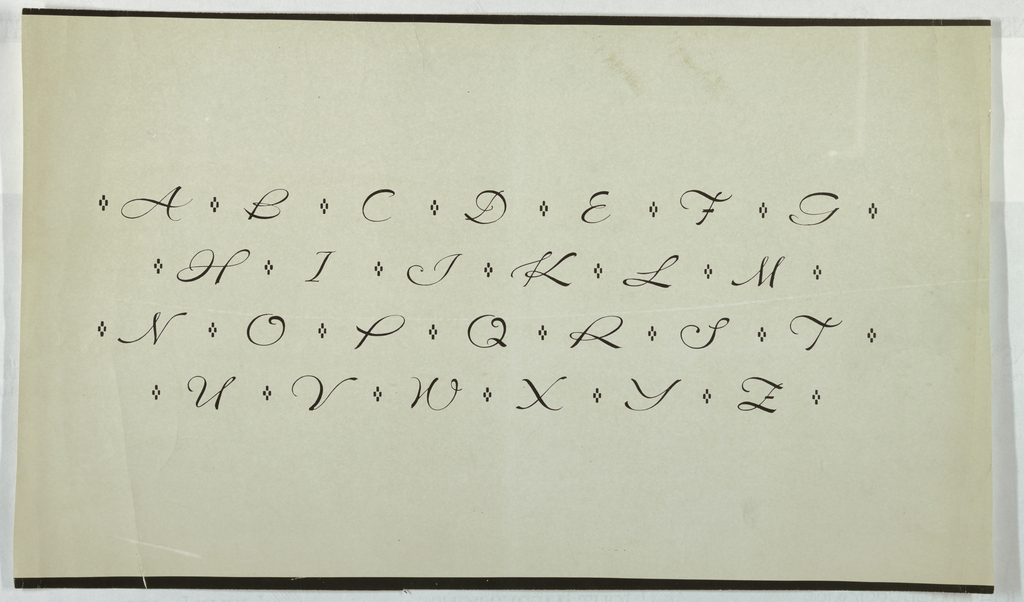 Photograph, Alphabet, Capitals, in Script