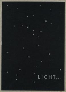 Brochure, Licht [Light], Metallwerkstätten, J. T. Kalmar