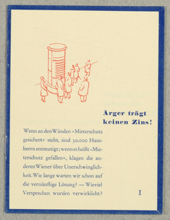 Brochure, Arger trägt keinen Zins! Herrn Erwin Knina