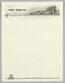 Letterhead, The Post Sign Co.