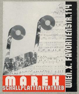 Brochure, Grammophone Marek / Schallplattenvertrieb, Wien
