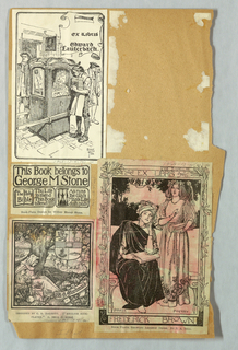 Bookplate reproduction on single page with -40, -41 & -42: Edward Lauterbach