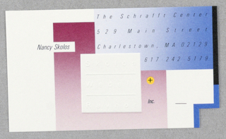 Business Card, Skolos, Wedell + Raynor, Inc.