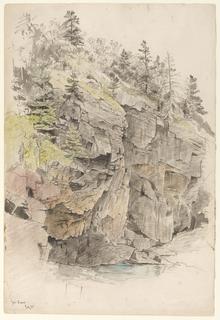 Drawing, Study of Cliffs, Mt. Desert, Maine
