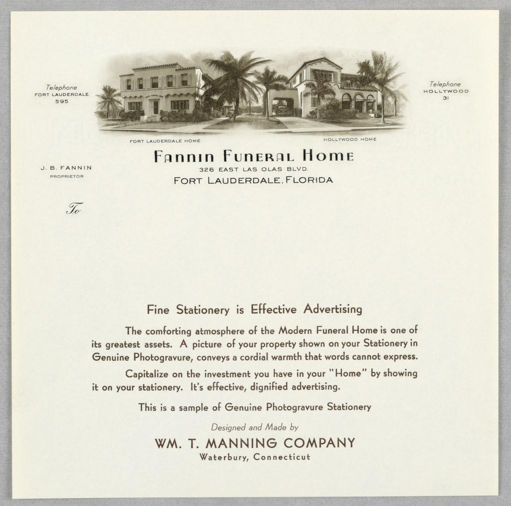 letterhead fannin funeral home