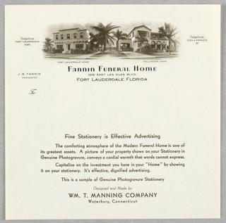 Letterhead, Fannin Funeral Home