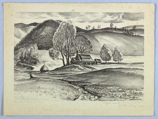 Print, Mountain Farm in N.C.