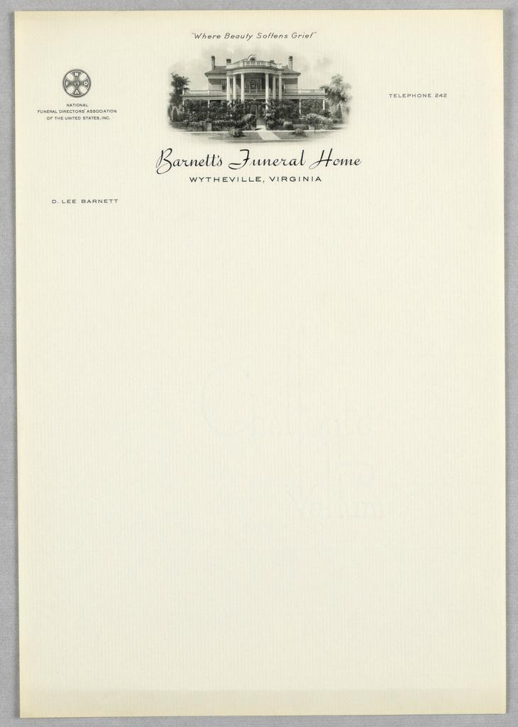 letterhead barnetts funeral home