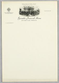 Letterhead, Barnett's Funeral Home