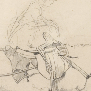 "Drawing, Study for ""The Bridle Path, White Mountains"""