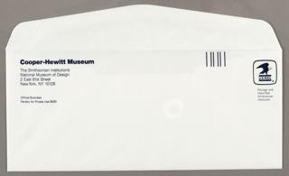 Letterhead Envelope, Cooper-Hewitt Museum