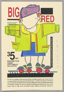 Poster, Big Red, 1991