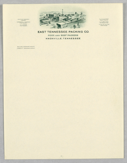 Letterhead, East Tennessee Packing Company