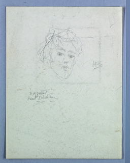 Partial ketch of a female figure.