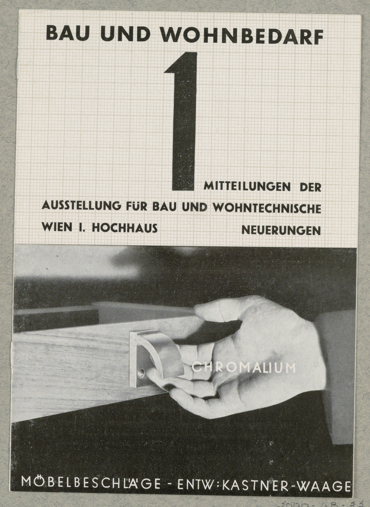 Brochure, Bau und Wohnbedarf 1/Chromalium