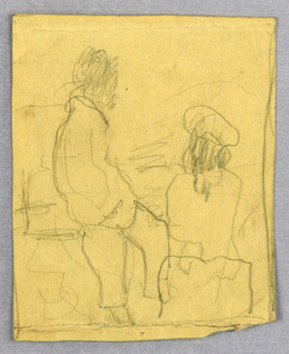 Partial sketch of two figures.