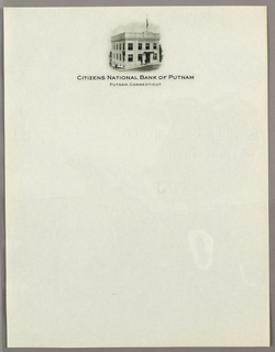 Letterhead, Citizens National Bank of, ca. 1940–65