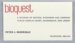 Business Card, Bioquest
