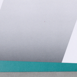 Envelope with wide stripes in white and gradient gray; lower margin in turquoise; two black bars with an 'A' at left. Upper left: Archetype / Architects, Inc. / 257 Newbury Street / Boston, MA 02116.