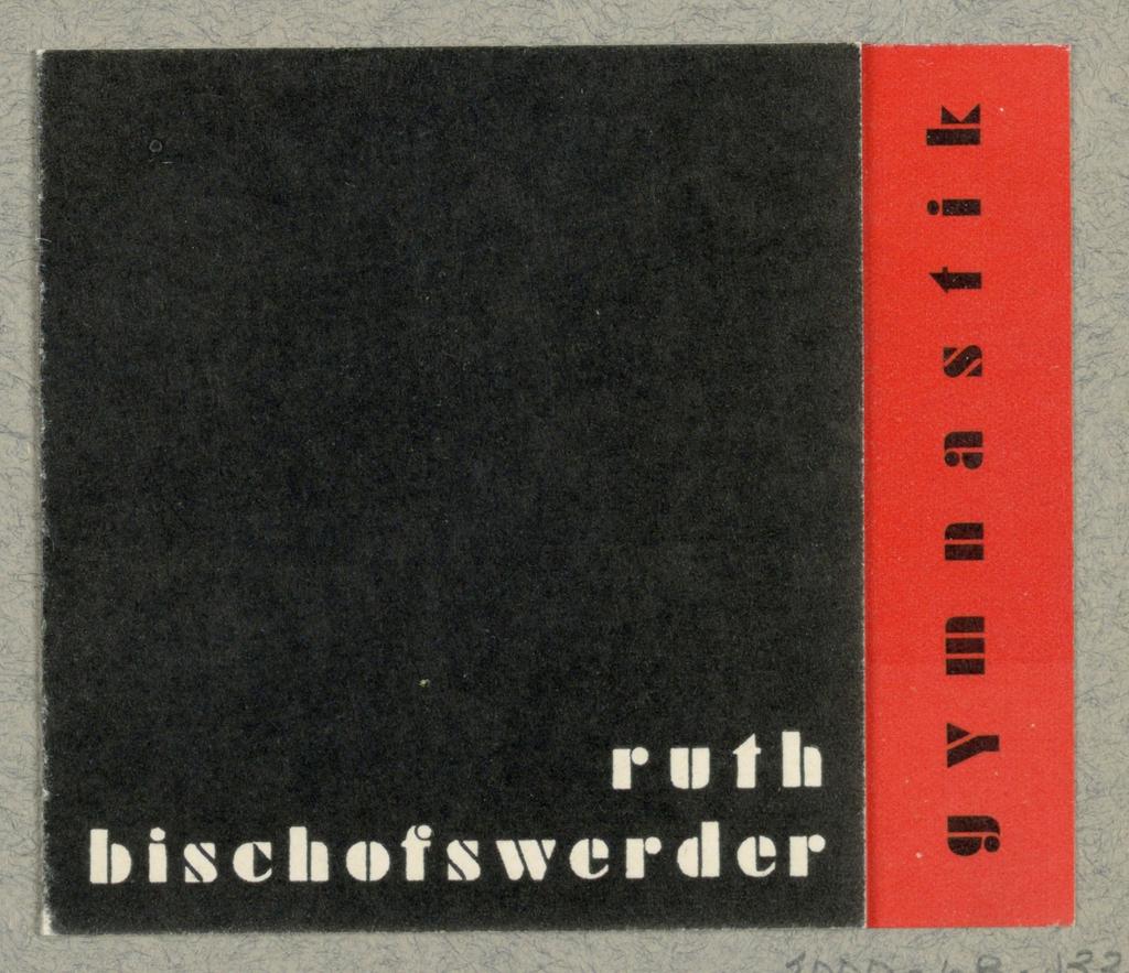 Business Card, Ruth Bischofswerder - Gymnastik
