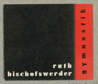 Business Card, Ruth Bischofswerder - Gymnastik