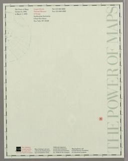 Letterhead Stationary, The Power of Maps