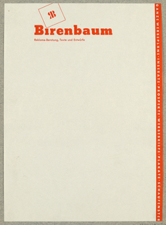 Letterhead, Birenbaum