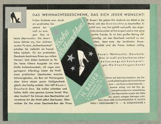 Brochure, Frohe Wiehnachten!  H. Bauer
