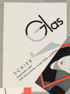 Brochure, Schieb Glas