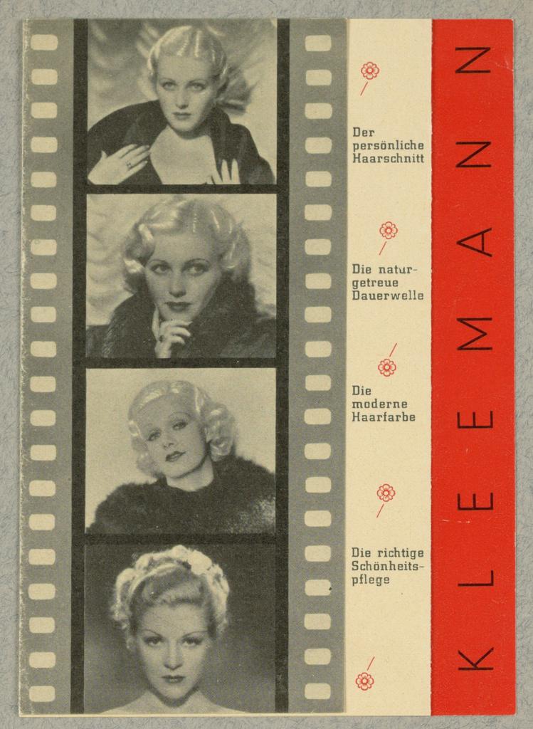 Brochure, Kleemann - Damenfriseur