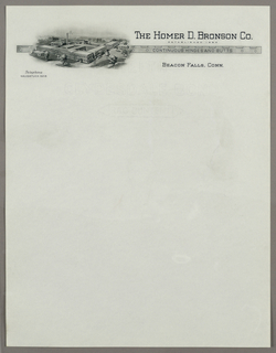 Letterhead, The Homer D. Bronson Co., ca. 1940–65
