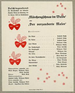 Program, Märchengschnas im Walde