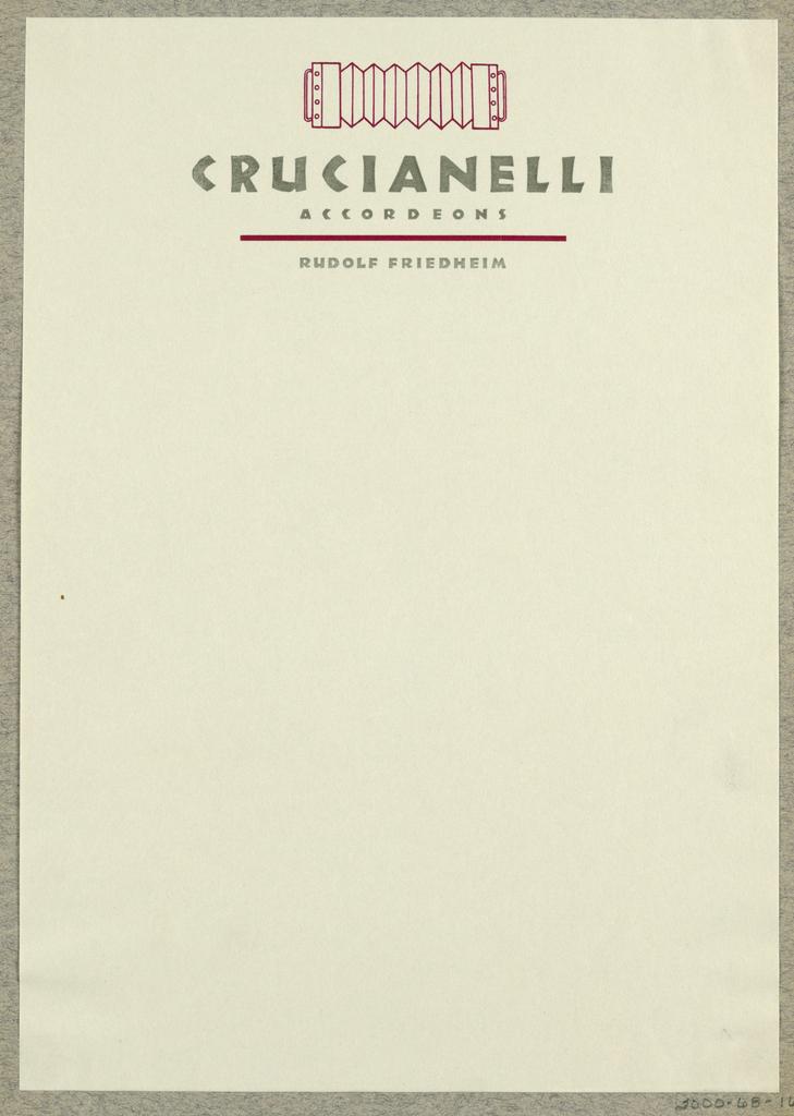 Letterhead, Crucianelli