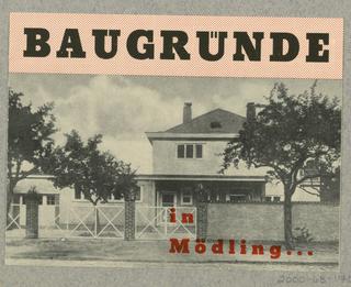 Brochure, Baugrunde in Mödling, Ing. Kurt Klein