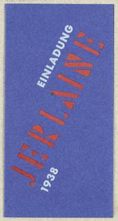 Announcement, Ein ladung Jerlaine 1938 [Jerlaine fabric line announcement 1938], 1938