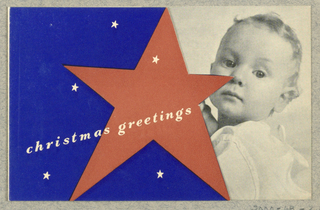 Greeting Card, Christmas Greetings from the Women's Committee for Peace and Democracy