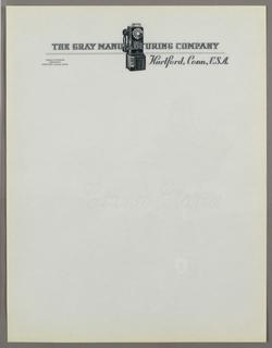 Letterhead, Gray Manufacturing Compan, ca. 1940–65