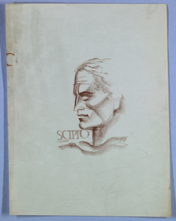 Print, The Rise of Rome: Head of a Man Facing Left, Scipio, 1930–32