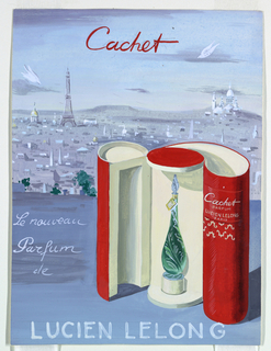Cachet perfume advertising with jewel-roll packaging