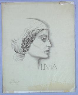 Drawing, Female Head, Right Profile: Livia