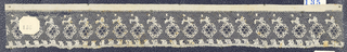 Bobbin lace sample edge, floral borders; late 18th century Point de Lille