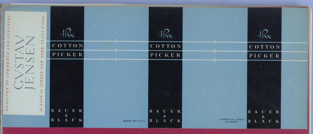 Ephemera, Album: The Cotton Picker