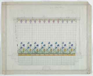 Drawing, Design for Tile Decoration, for 4 Rue Richard Wagner, 1880–1900