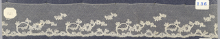 Bobbin lace border, floral borders; late 18th century Point de Lille