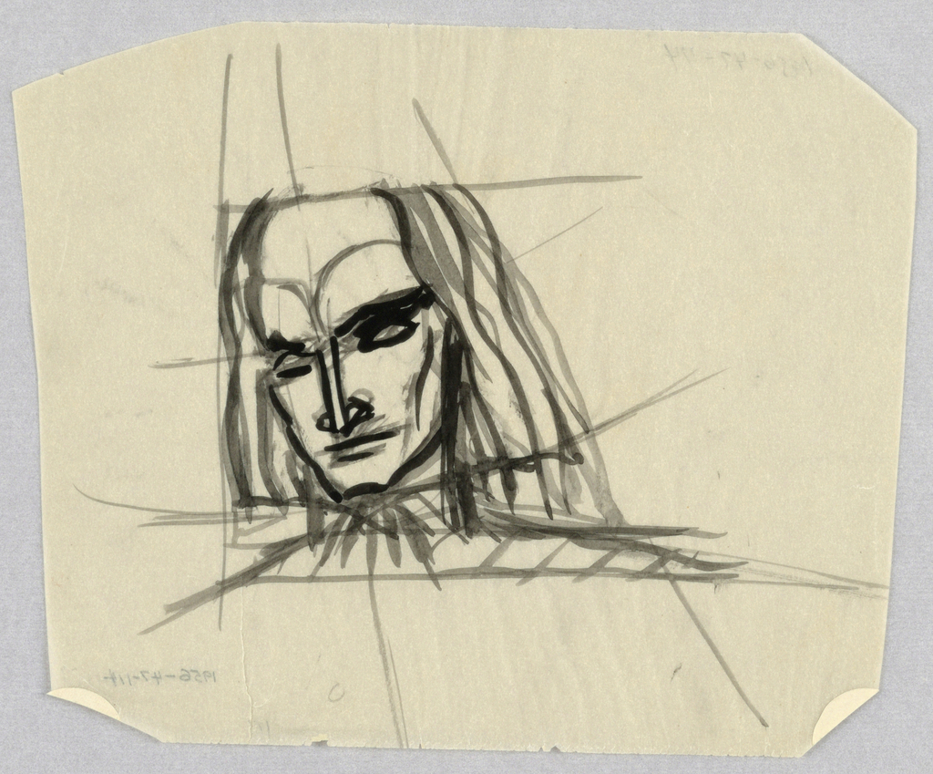 Drawing, Female Head, Front, with Headband